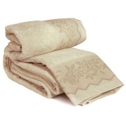 фото Комплект полотенец из махры Tete-a-Tete Т-МП-6468-04. Цвет: бежевый