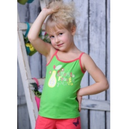 фото Майка для девочек Detiland SS15-UBL-GTP-964. Цвет: зеленый. Рост: 98 см