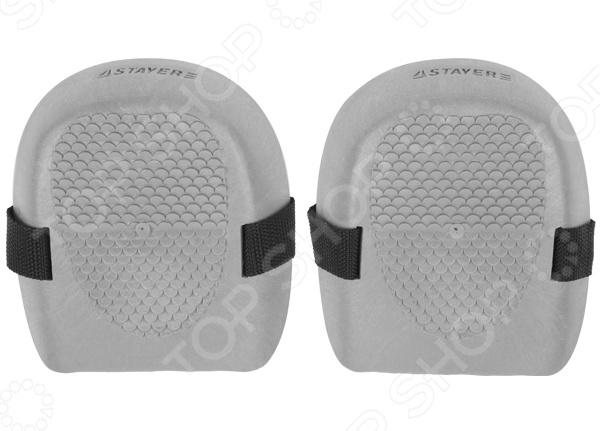 Наколенники защитные Stayer Standard 11193_z01Безопасность работ<br>Наколенники защитные Stayer Standard 11193 z01 резиновые наколенники, которые надежно защищают и дают меньшее сопротивление при работе. Универсальные наколенники, подходящие для большинства поверхностей:  бетон,  ламинат,  линолеум,  кафель.<br>