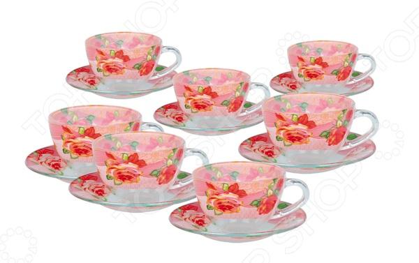 Набор чайных пар Bohmann BHG-01-200. В ассортиментеЧайные и кофейные наборы<br>Товар продается в ассортименте. Цвет изделия при комплектации заказа зависит от наличия товарного ассортимента на складе. Набор чайных пар Bohmann BHG-01-200 это оригинальный чайный набор, который станет прекрасным подарком на любой праздник: свадьбу, день рожденья, юбилей или новоселье. Набор выполнен из высококачественного фарфора, который отличается повышенной износостойкостью и украшен красивым декоративным рисунком. Такой набор станет украшением любого повседневного стола. Комплект поставляется в подарочной коробке, в комплекте вы найдете:  чашка чайная 200мл - 6 шт;  блюдце - 6 шт;.<br>