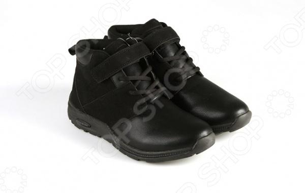 Ботинки адаптивные женские высокие Walkmaxx. Цвет: черный