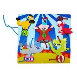 фото Игра развивающая для малыша Mapacha «Шнуровка. Клоуны»
