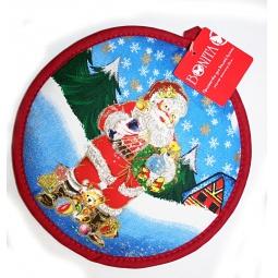 фото Прихватка круглая BONITA «Санта Клаус»