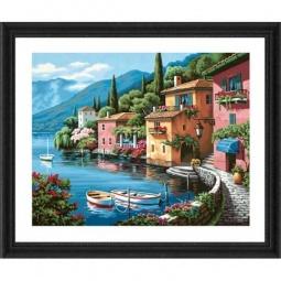Купить Набор для рисования по номерам Dimensions «Деревушка на берегу озера»