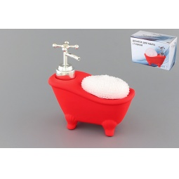 Купить Диспенсер с губкой Elan Gallery «Ванна красная»