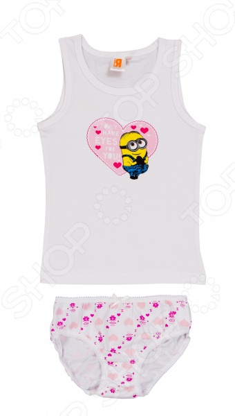 Комплект нижнего белья для девочки: майка и трусы Minions. I Only Have EyeS 4U