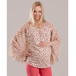 Купить Блузка для беременных Nuova Vita 1345.2. Цвет: бежевый
