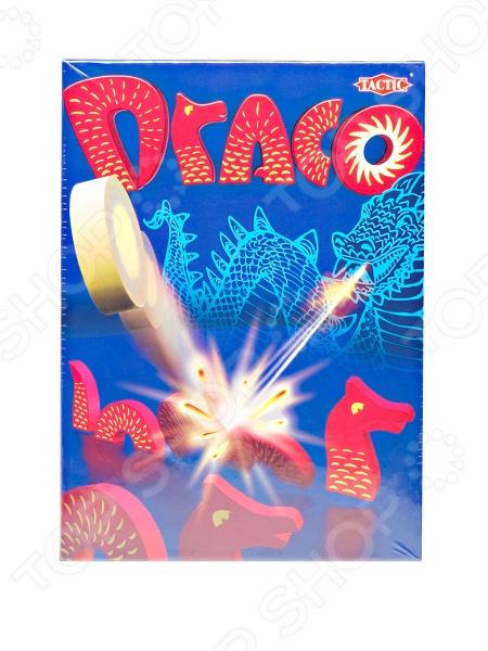 Игра настольная Tactic «Дракон»Логические и стратегические настольные игры<br>Игра настольная Tactic Games Дракон - занимательная и азартная игра, которая отлично подойдет для шумного праздника и для веселый игры в семейном кругу. Здесь можно сражаться на ровне и детям, и взрослым, это только подстегнет и взбодрит игроков. Набор состоит из некоторых элементов целого дракона, который легко собирается и разбирается на части. Целью игры является вырастить самого большого дракона. В средине стола устанавливается большой дракон, а участники с разных сторон располагают своих маленьких дракончиков. Чтобы получить новые детальки для своего дракона, необходимо метко стрелять в большого и выбивать из него кусочки туловища. Победителем станет тот, кто соберет самого длинно мифического персонажа.<br>