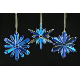 фото Елочное украшение Crystal Deco «Снежинка» 1707700. В ассортименте