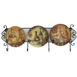 Купить Набор из 3-х тарелок Elan Gallery «Оливковое масло» горизонтальный