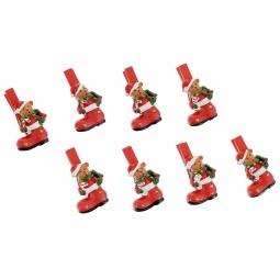 фото Набор прищепок бельевых с декором Феникс-Презент 38483 «Мишка в носочке»