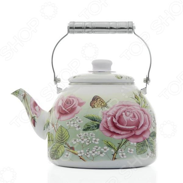 Чайник эмалированный Mayer&amp;amp;Boch MB-23363 «Розы»Чайники со свистком и без свистка<br>Чайник эмалированный Mayer Boch MB-23363 Розы классический чайник для кипячения воды, выполненный из надежной углеродистой стали. Имеет внутреннее и внешнее эмалированное покрытие. Поверхность гладкая, что упрощает уход за ним. Обеспечивается равномерное распределение тепла в процессе нагрева за счет капсулированного дна с алюминиевой прослойкой. Этот чайник также станет украшением вашей кухни благодаря своему оригинальному оформлению.<br>
