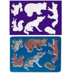 Купить Трафарет пластиковый Луч «Лесные звери»