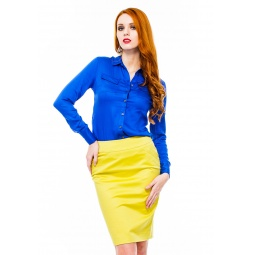 фото Блузка Mondigo 9961. Цвет: синий. Размер одежды: 44