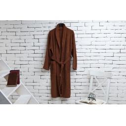 фото Халат из махры мужской Домашний уют. Цвет: коричневый. Размер одежды: 50-52