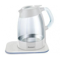 фото Набор: чайник Rolsen RK-3716 GD и чайник заварочный Rolsen TCG-1000. Цвет: белый