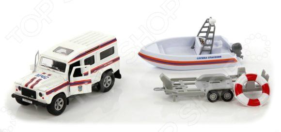 Модель коллекционная Пламенный Мотор Land Rover «МЧС. Служба спасения»