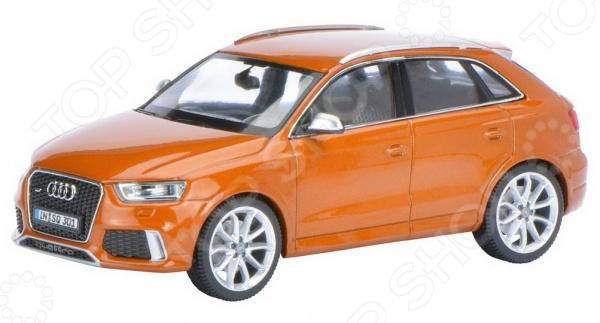 Модель автомобиля 1:43 Schuco Audi RS Q3Модели авто<br>Модель 1:43 Audi RS Q3 представляет собой точную копию настоящего немецкого кроссовера. Коллекционная модель выпущена известной компанией по производству игрушек Schuco. Особенность коллекции в том, что все игрушки изготовлены по лицензии именитых автопроизводителей. Машина изготовлена из металла с элементами пластика и обладает потрясающей детализацией. Яркий автомобиль разнообразит игровые ситуации, откроет новые сюжеты для маленького автолюбителя и поможет развить мелкую моторику рук, внимание и координацию движений. Модель 1:43 Audi RS Q3 является отличным подарком не только ребенку, но и коллекционеру.<br>