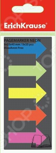 Набор стикеров-закладок Erich Krause «Стрелки» 19545Бумага для заметок. Стикеры. Блоки<br>Набор стикеров-закладок Erich Krause Стрелки 19545 станет отличным дополнением к набору ваших канцелярских принадлежностей. Изделия практичны и функциональны в использовании, предназначены для выделения и систематизации информации в каталогах, книгах, документах и т.д. Закладки выполнены виде цветных стрелок и снабжены усиленными клеевыми краями; не оставляют следов и повреждают поверхность бумаги.<br>