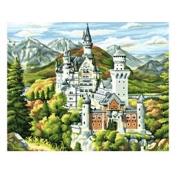 фото Набор для раскрашивания по номерам Белоснежка «Замок Нойшванштайн»