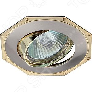 Светильник встраиваемый поворотный Эра KL20 А SN/GСпоты встраиваемые<br>Светильник встраиваемый поворотный Эра KL20 А SN G это красивый и мощный светильник, который способен ярко освещать целую комнату. Встраиваемый светильник может служить единственным источником света или дополняться декоративными светильниками. Светильник подходит для низких потолков, поскольку занимает достаточно мало места. Классический светильник, который позволит вам подсветить комнату, или напротив создать рассеянное освещение. Потолочный светильник может выступать как локальным источником света, так и основным, можно осветить рабочую зону или подчеркнуть интерьер. Если вы хотите создать в квартире определенный интерьер, то, в большинстве случаев, без потолочных светильников вам не обойтись. Следует заметить, что потолочные светильники прекрасно подходят для рабочих помещений, кабинетов и офисов. Можно использовать как замену люстр в маленьких помещениях, например, в помещениях где низкие потолки и вешать люстру просто невозможно. Кроме того, потолочные светильники помогут создать неповторимую атмосферу в коридорах. Свет, который излучается очень мягкий, при этом достаточно хорошо освещает помещение.<br>