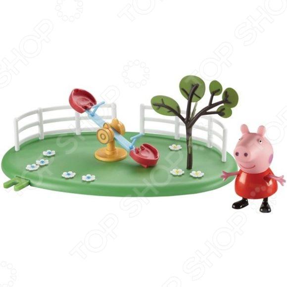 Набор игровой c фигуркой Росмэн «Игровая площадка. Качели-качалка» росмэн игровой набор росмэн паровозик с туннелем