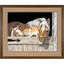 Купить Набор для рисования по номерам Dimensions «Дружба на конюшне»
