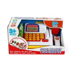 фото Касса игрушечная Shantou Gepai со сканером и набором продуктов
