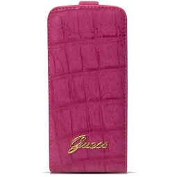 фото Чехол Guess Flip Case Croco для iPhone 5. Цвет: розовый