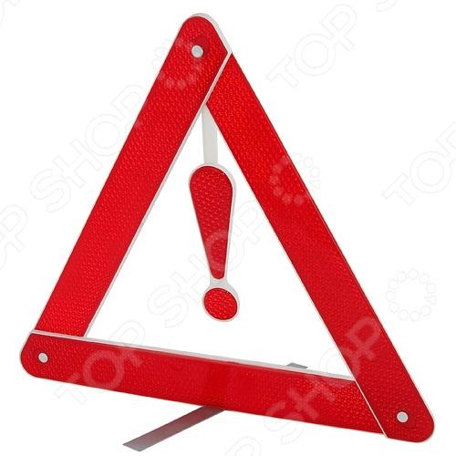 Знак аварийной остановки FK-PREMIER RFT-03 представляет собой красный треугольник с восклицательным знаком в средине. Этот знак является необходимым аксессуаром в наборе каждого автолюбителя, ведь с его помощью вы сможете обезопасить себя и других участников дорожного движения. Он будет незаменим в случае дорожно-транспортного происшествия, в случае вынужденной остановки в местах, где остановка запрещена или там, где другие водители не смогут заблаговременно увидеть ваше авто. Знак хорошо виден не только днем, но и ночью.