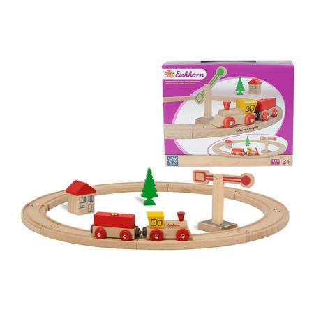 Купить Набор деревянной железной дороги Eichhorn 100001200