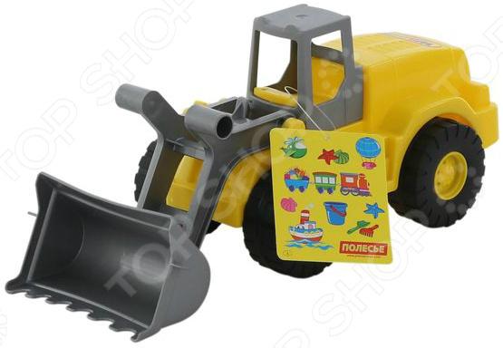 Машинка игрушечная Wader «Агат. Трактор-погрузчик»Машинки<br>Машинка игрушечная Агат. Трактор-погрузчик это реалистичная копия настоящей строительной спец.техники. Модель выпущена известной компанией по производству игрушек Wader. Трактор изготовлен из прочного пластика и обладает потрясающей детализацией. Игра на детской площадке или в песочнице с такой машинкой надолго займет малыша и не даст ему заскучать. Яркий трактор разнообразит игровые ситуации, откроет новые сюжеты для маленького автолюбителя и поможет развить воображение, мелкую моторику рук, внимание и координацию движений. Не упустите шанс порадовать ребенка замечательным подарком! Игрушка сертифицирована в РБ, РФ и Европе. Система менеджмента качества СООО ПП Полесье сертифицирована согласно ИСО 9001. Изделие имеет сертификат безопасности согласно норм EN 71.<br>