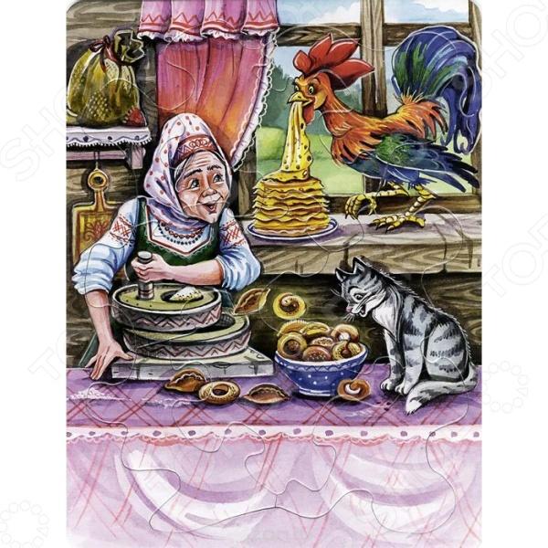 Книжки-пазлы Проф-Пресс 978-5-378-19524-4 Петушок и чудо-меленка