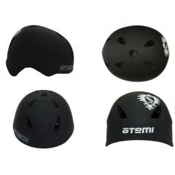 фото Шлем защитный ATEMI Rider AAHR-02. Цвет: черный. Размер: L (58-60)