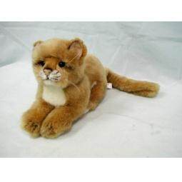 фото Мягкая игрушка для ребенка Hansa «Львенок лежащий»