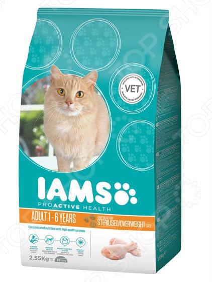 Ямс пауч для кошек, старше 7лет курица 100гр*22