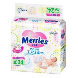 Купить Подгузники на липучках Merries размер S 4-8 кг