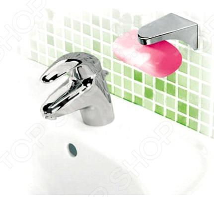 Мыльница Bradex TD 0368Аксессуары для ванной комнаты<br>Bradex TD 0368 это стильная, модная и очень удобная в использовании мыльница. Представленная модель предназначена для людей, которые хотят сделать жизнь ярче, а быт более комфортным. Мыльница выглядит очень эффектно, т.к. со стороны кажется, что мыло парит в воздухе. Это достигается за счет использования магнита, который установлен в держателе. Такая конструкция обладает целым рядом преимуществ по сравнению с традиционными мыльницами:  Мыло сохнет в 4 раза быстрее, поэтому не размягчается и не разваливается;  Обеспечивается максимальная гигиеничность, т.к. полностью отсутствует закисшая вода, грибок или плесень;  Универсальный дизайн позволяет вписать мыльницу в интерьер любой ванной комнаты;  Держатель закрепляется на стене при помощи шурупов или двухстороннего скотча.<br>
