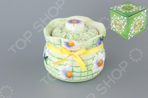 фото Горшочек для меда Elan Gallery «Ромашки на зеленом», Банки для мёда. Розетки