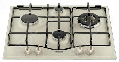 Варочная поверхность Hotpoint-Ariston 7HPC 640 T OW это отличная варочная поверхность, которая прекрасно подойдет к дизайну вашей кухни. Варочную поверхность можно установить в наиболее удобное место в столешнице. Кроме того, стоит сказать, что варочная поверхность позволит вам сэкономить по сравнению с использованием обычной кухонной плиты. Данная варочная поверхность газовая, панель из закаленного стекла, четыре конфорки. Переключатели поворотные, механические, что является наиболее надежной системой управления. Эта варочная поверхность идеально подойдет в вашу кухню. Варочные поверхности становятся все более популярными, это связанно с тем, что такой вид бытовой техники отличается надежностью, качеством и отличными эксплуатационными характеристиками: простотой очистки, быстрым нагревом, возможностью готовить любые блюда. Независимая варочная поверхность имеет панель управления, с переключателями отвечающими за работу конкретных конфорок.