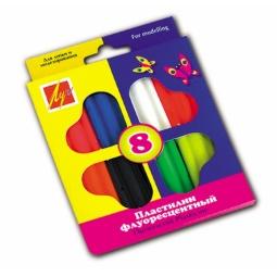 фото Набор пластилина Луч «Флуоресцентный»: 8 цветов