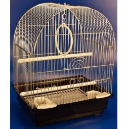 фото Клетка для птиц Золотая клетка с выдвижным поддоном. Цвет: золотистый