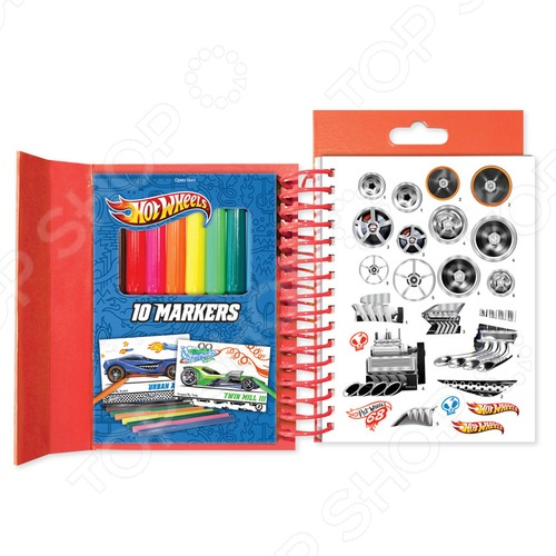Портфолио-блокнот Fashion Angels «Hot Wheels» 46805