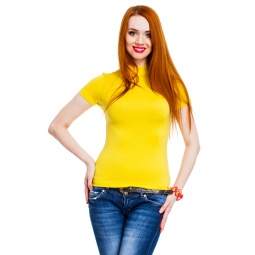 фото Водолазка Mondigo 037. Цвет: желтый. Размер одежды: 46