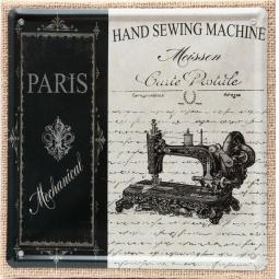 фото Картина на металле Феникс-Презент «Швейная машинка»