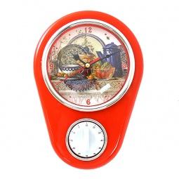 фото Часы настенные с таймером Феникс-Презент «Натюрморт»