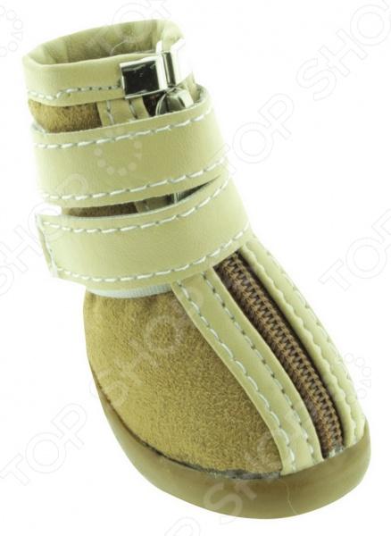 Обувь для собак DEZZIE «Бейж» обувь для собак dezzie шотландка