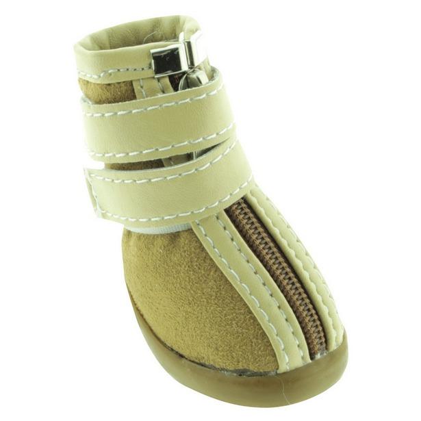 фото Обувь для собак DEZZIE «Бейж». Размер: 1 (5,75х3,55 см)