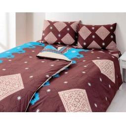 фото Комплект постельного белья TAC Maroc. 1,5-спальный. Цвет: коричневый