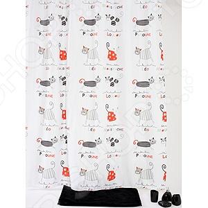 Штора для ванной White Fox WBCH10-315 Ground Cats